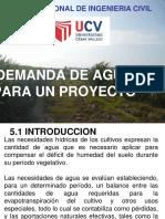 Quinta Sesion Demanda de Agua Para Un Proyecto