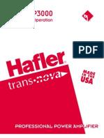 Amplificador de Poder Hafler p1500 p3000 Man