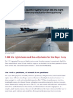 F-35B the Right Choice and the Only Choice for the Royal Navy _ Save the Royal Navy