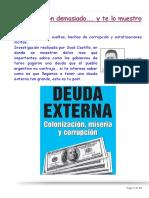 Deuda Externa-Colonizacion, Miseria y Corrupcion