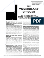 Article - The Vocabulary of Touch