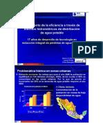 incremento de la eficiencia a traves de distritos hidrometricos de distribución de agua potable