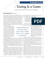 Software Testing is a Game
