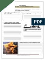 Ficha de lectura Don Quijote de la Mancha 3° medio