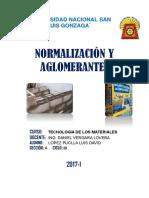 Normalizacion y Aglomerantes - Lopez