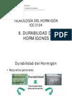 C.6 Durabilidad de Hormigones