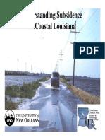 Understanding Subsidence in Coastal Louisiana Powepoint (Reedetal2009)