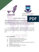 Edital 1° Processo Seletivo LIAS-ME-1