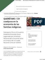 2016 Participa CDI Encuentro Estatal de Economía Social CRUZADA NACIONAL Contra El HAMBRE