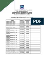 Homologação Das Inscrições Edital CCBS 1117