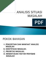 Analisis Situasi Masalah