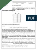Avaliaçao Educação Física Ensino Fundamental- 8º e 9º Anos- i Unidade- 2017-Matutino
