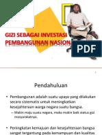 Gizi Sebagai Investasi