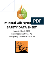 Msds Mineral Transformer Oil