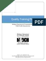 Quality Training Plan