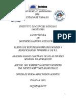 Reporte Analisis Granulometrico GPE