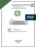 Monografia P.neurolinguistica  METODOLOGIA