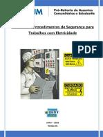 Caderno de Procedimentos de Segurança Para Trabalhos Com Eletricidade