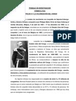 Trabajo de Investigacion Leopoldo y El Congo