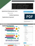Eredivisie speelschema Feyenoord seizoen 2017-2018