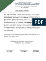 Constancia de Buena Conducta Yoel Perez
