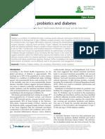 Gut microbiota, probiotics and diabetes