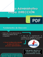 Etapa de dirección en el proceso administrativo
