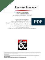 D&D5e - Race - Races Revived Revenant