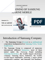 A Project Report on Samsung Marine Mobile