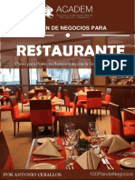 Plan de Negocio Restaurante