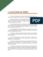 Analisis de Presiones Laterales Del Suelo