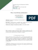 Skutin Predicting Mathematics Pp.1 9