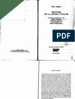 Tratado De La Lengua Vulgar - Dante Allghieri.pdf