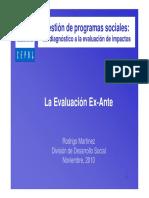 Presentacion Evaluacion Ex-Ante Metodos 2010