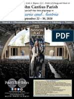 Travel Brochure for St John Cantius - Oberammergau