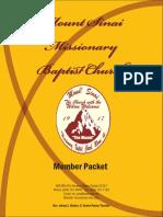 sample mountsinai new member packet