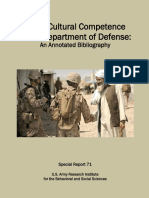 Cross-Cultural Competence n the Department of Defense an Annotated Bibliography