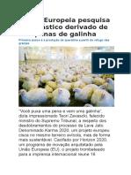 União Europeia Pesquisa Bioplástico Derivado de Penas de Galinha