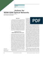 Switching WDM-SDM
