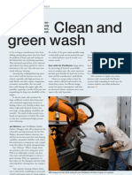 Clean and Green Wash by ABB Robots