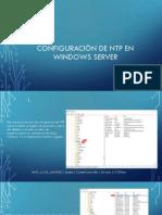 Configuración de NTP en Windows Server