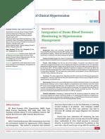 Integration of Home Blood Pressure Monitoring in Hypertension Management