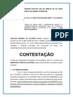 Excelentíssimo Senhor Doutor Juiz de Direito Da 55ª Zona Eleitoral Desta Comarca de Almino Afonso