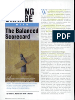 Leading Change With the Balanced Scorecard