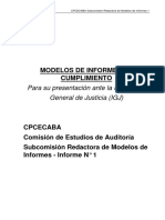 Subcomisión Redactora de Modelos de Informes - Informe N 1 - Modelos Informes de Cumplimiento IGJ