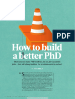 How to Build a Better Phd