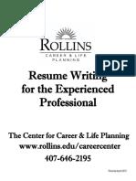 Resume Experienced Packet