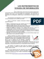 II 07 Los Instrumentos de Recogida de Informacion