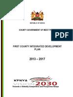 West Pokot CIDP 2013 2017