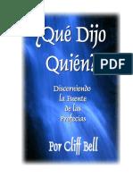 ¿QUE DIJO QUIEN- - Cliff Bell.pdf